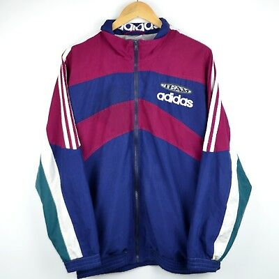 d901fae417fc Adidas Windbreaker Vintage 90s jacket Adida Tracksuit Top Men M Coat Medium