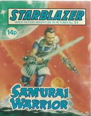 Samurai Warrior,no.53,starblazer Space Fiction Adventure In Pictures,comic