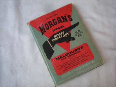Vintage MORGAN'S Street Directory, MELBOURNE & SUBURBS, Road Map, 43rd Edition..