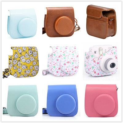 Fujifilm Instax Mini 9 8 Film Instant Camera Flamingo Bag PU Leather Cover Case