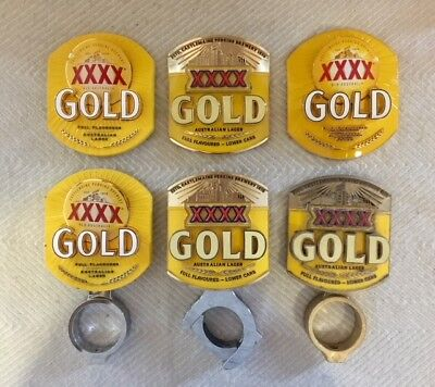 Beer Tap Decals XXXX Gold Badge Mount Top Mancave Collectors!