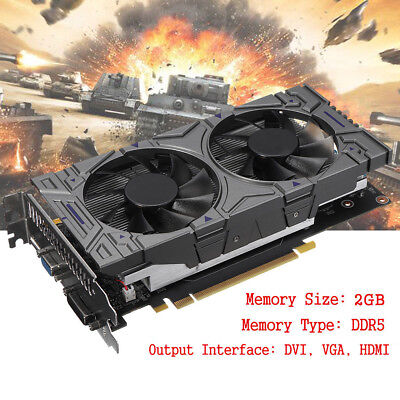 GTX1050Ti GDDR5 2GB 128bit Gaming Graphics Card with Fan Video Card For NVIDIA