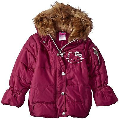 841951dfb HELLO KITTY Hooded Puffer Jacket   Coat Girls Pink Size 4 -  8.99 ...