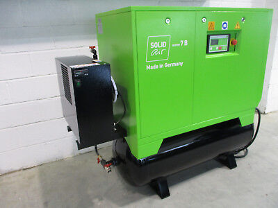 Solid Air Screw Compressor With Dryer Model S7Brmd 10Hp, 7.5Kw Made In Germany,