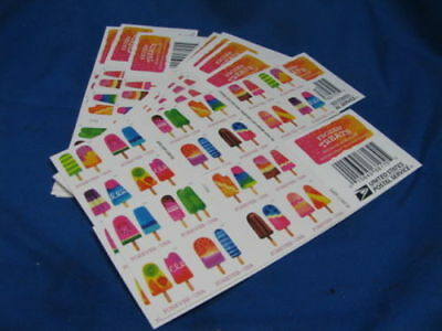 1 Book Of 20 Frozen Treats Usps First Class Forever Postage Stamps