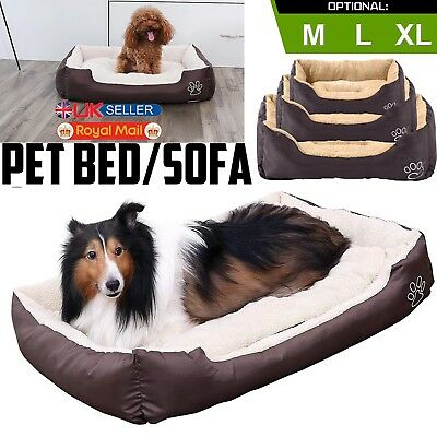 Deluxe Pet Cat Dog Bed Basket Mattress Mat Washable Fur Fleece Soft Comfy Fabric