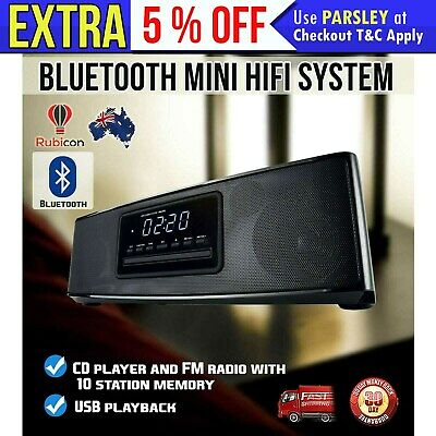Bluetooth Mini HiFi System CD Player FM RADIO AUX/USB 20W RMS BOOMBOX STEREO