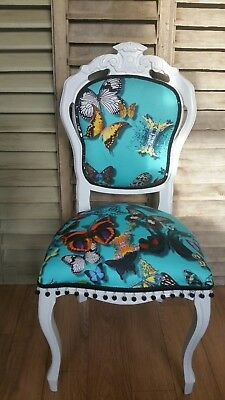 CHRISTIAN LACROIX BUTTERFLY PARADE ' in LAGON 'LOUIS STYLE  BOUDOIR CHAIR