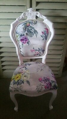 Designers Guild ' caprifoglio ' fabric Louis French style chair