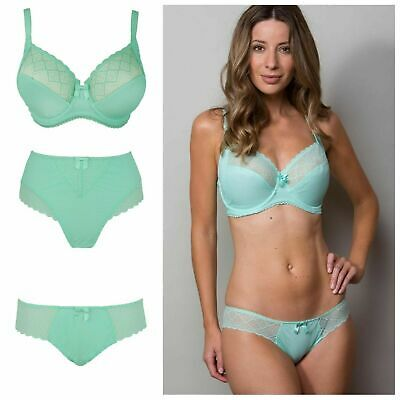 Pour Moi Electra Mint Side Support Bra, High Waist Brief, Brief or Thong