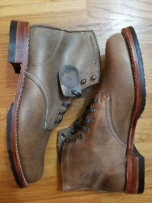 28ed9a40f2a WOLVERINE EVANS 1000 Mile Dark Brown Boots Size 13 M Men's Lace up ...