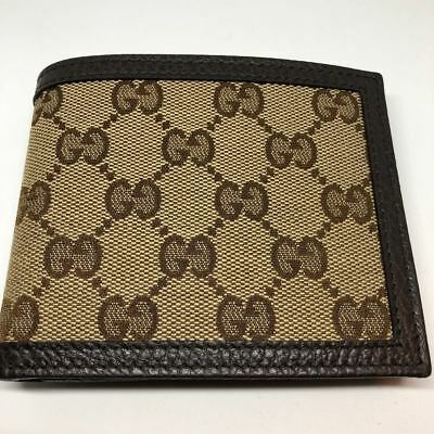 9d1dd798cef4 Brand New GUCCI Men's Classic GG Monogram Bifold Slim Canvas and Leather  Wallet