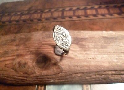 Amazing Late Medieval Decorated Ring possibly Seal Ring-Metal Detecting Find