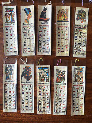 5 Papyrus Bookmarks Ancient Egyptian On Genuine Papyrus