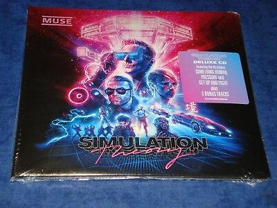 """music cd muse nuovo new neuf - simulation theory """" deluxe """"(all11songs+5tracks)"""