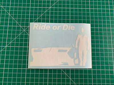 20 couleurs au choix Decals Sticker fast and furious ride or die 10x13,6cm