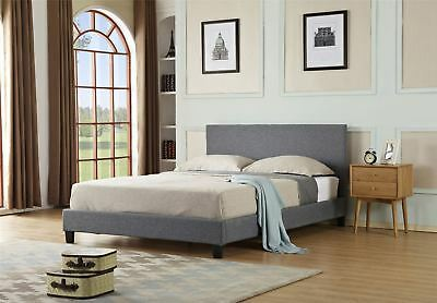 Modern Designer 4Ft6 Double & 5Ft King Size Fabric Beds Bed Grey
