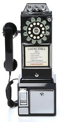 Retro Vintage Bell System Rotary Dial Pay Phone Public Telephone Booth Man Cave