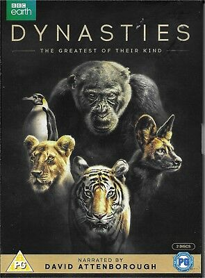 DYNASTIES: The Greatest of Their Kind - DVD - David Attenborough - NEW/Sealed.