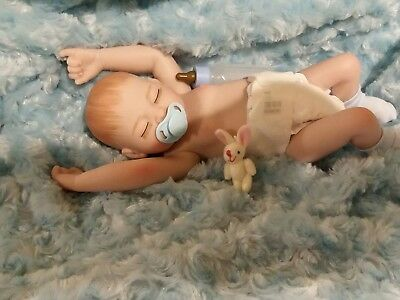 Tiny Preemie Soft Vinyl Real Baby Boy  Washable  10 Inch Anatomical