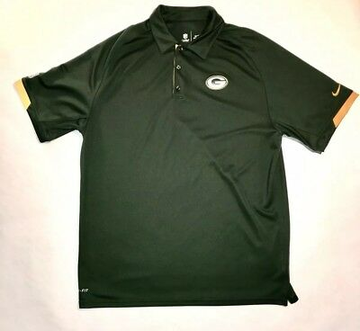 Nike Mens Dri Fit On Field Apparel Polo Green Bay Packers Size Large NFL