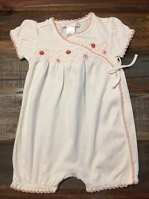 813bda5111e Janie and Jack Baby Girl Ivory Kimono Bubble Romper w  Flowers 3-6Months NEW