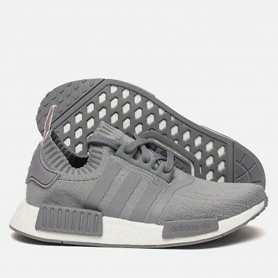 sneakers for cheap 36a9f 9f65f ADIDAS NMD R1 Gray Primeknit Womens Shoes Cq2041 New
