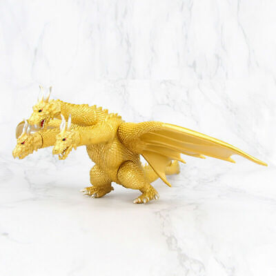 "17.3""  Godzilla Gidora King of the Monster Ghidorah 3 Heads Golden Dragon Figure"