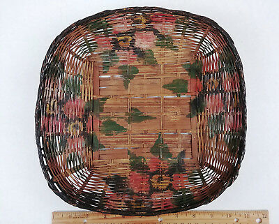 RARE LARGE ANTIQUE PAINTED Chinese Sewing Basket Betty-Lou Collection 139