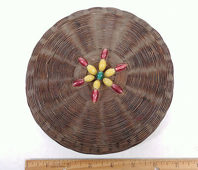 RARE LARGE ANTIQUE BEADS Chinese Sewing Basket Betty-Lou Collection 141