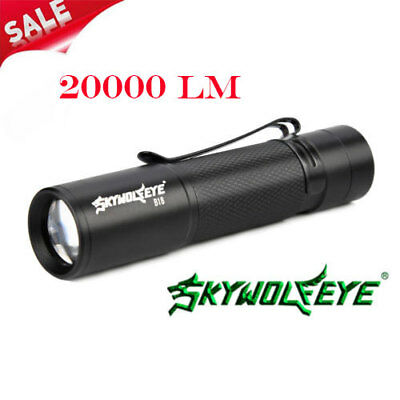 XPE 20000LM Protable LED Flashlight AA/14500 Compact Light Powerful Torch Lamp