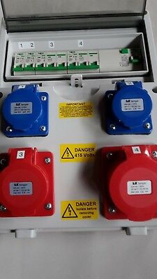 63Amp Garage, generator distribution board,power box,Hook Up, 3 phase splitter