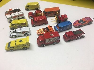Vintage Hot Wheels Corgi Thor Wonder Woman Superman Hulk Snoopy Lot 16 1970s