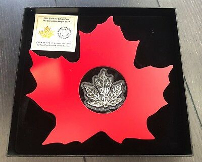 2015 Maple Shaped Canada 1oz .9999 Fine Silver - First in the Series