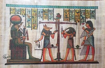 Egyptian Painting Papyrus Paper Authentic Book Of The Dead Anubis art/history