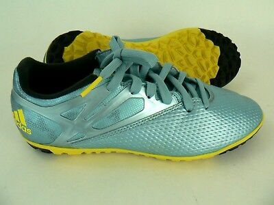 934a95c4d8 Adidas Mens Size 7 Messi 15.3 Indoor Soccer Futsol Shoes Ice Blue Yellow  Youth
