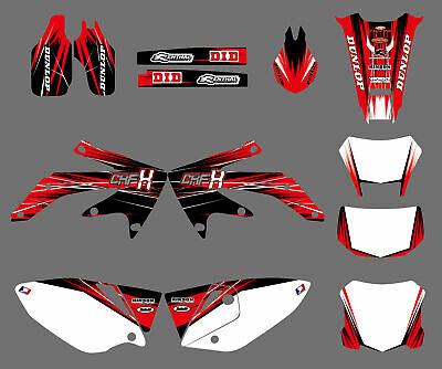 DECAL GRAPHIC KIT Dirt Bike Stickers Background For Honda CRF450X CRF 450X  05-14