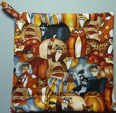 Deluxe Hot Pad LAUREL BURCH ANIMAL PARK Quilted Pot Holder