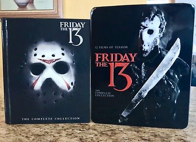 Friday the 13th Complete Collection 10-Disc Blu-ray Steelbook Case Box Set OOP