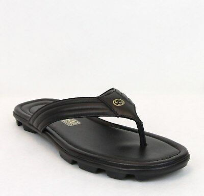 5f65620128bb Gucci Men s Black Soft Rei Calf Leather Thong Sandals 9.5G US 10.5 450906  1000