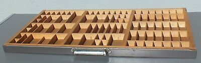 Letterpress Printers Wood Type Case Drawer Tray Shadowbox w/ Metal Front & Pull