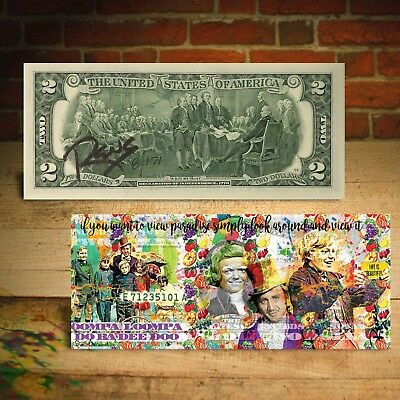WILLY WONKA $2 US Bill - SIGNED by RENCY - Numbered of 171 - View Paradise