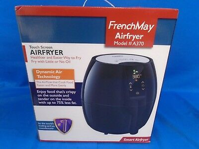 FrenchMay A370 Touch Control Air Fryer, 3.7Qt 1500W Includes Recipes Cook Book