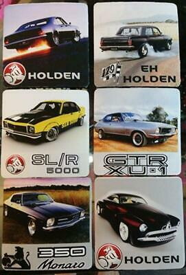 CLASSIC HOLDEN ACCESSORIES DRINK COASTER SET x 6