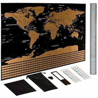 Scratch Off World Map Poster – US States Outlined, Travel Scratch Off map