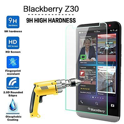 (1/2 Packs) HD Premium Tempered Glass Screen Protector for Blackberry Z30