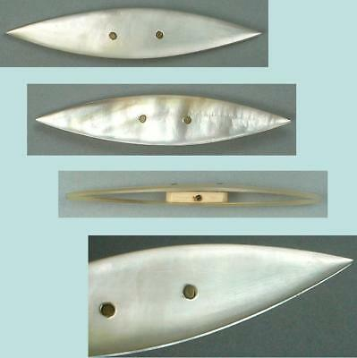 Antique Mother Of Pearl Tatting Shuttle * French * Circa 1870