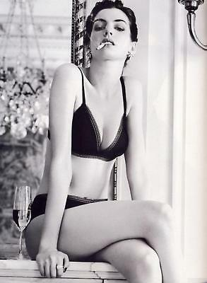 GLOSSY PHOTO PICTURE 8x10 Anne Hathaway Smoking Black And White