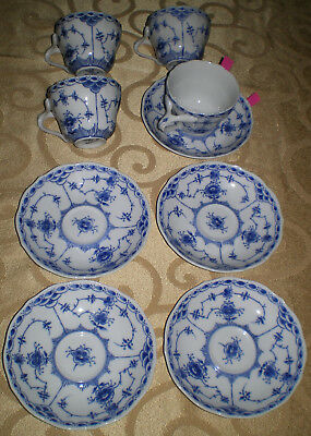 "10 AVAILABLE -...// SCALLOPED /""BLUE FJORD/""-  BY LIPPER /& MANN CUP /& SAUCER"