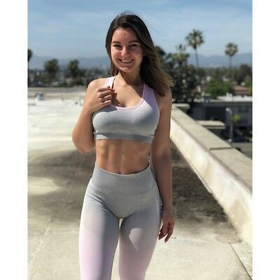 62d2a62ea8 NWT Gymshark Ombre Seamless Sports Bra - Light Grey   Chalk Pink - XS